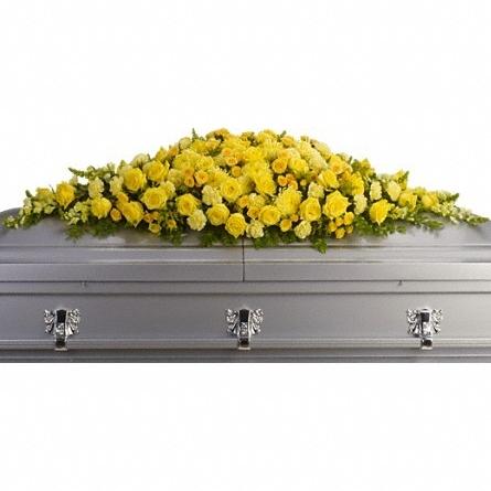 Golden garden casket spray $315 -