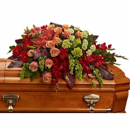 A Fond Farewell Casket Spray $190 -