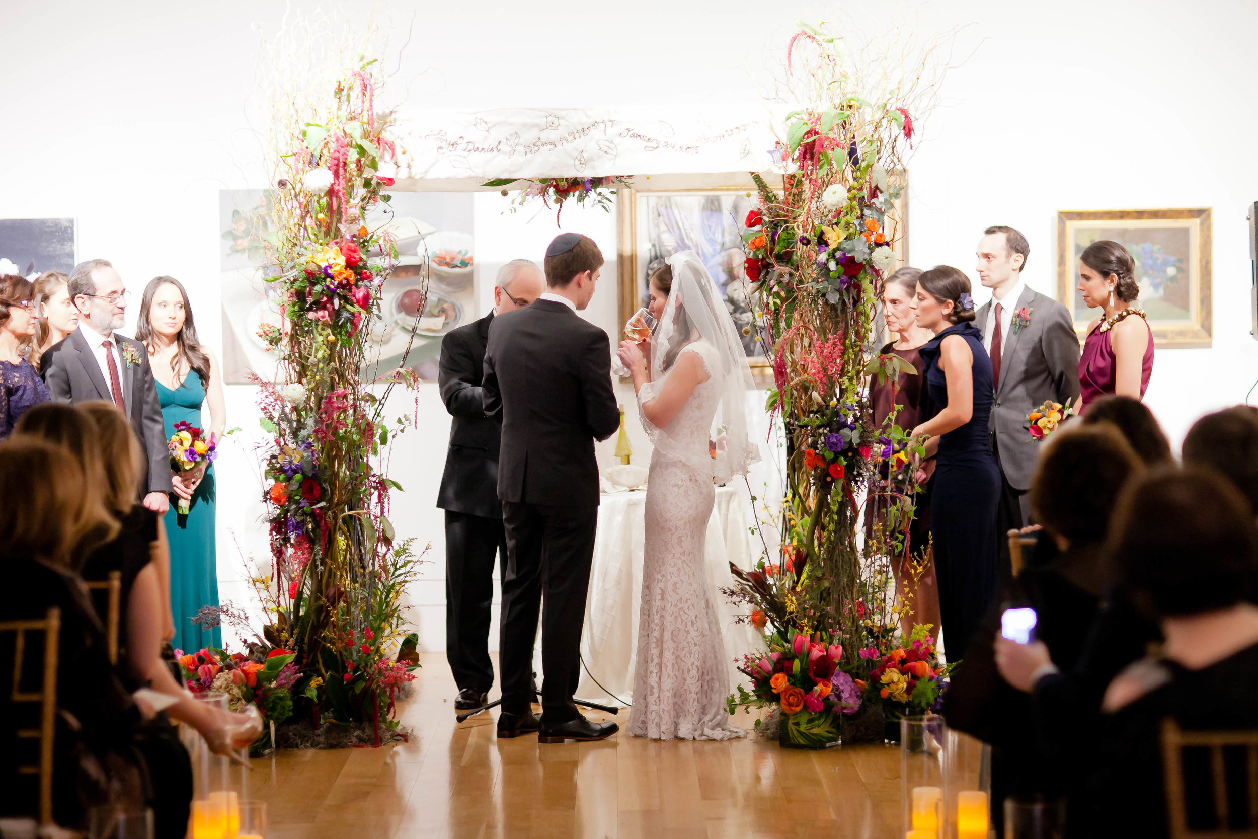 Chuppah - Willow Pole Chuppah with Very Substantial Flowers and Additional Willow (1,575)