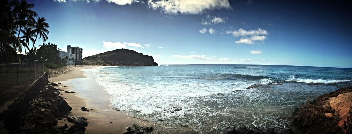 Shoreline: Makaha, Waianae, Oahu, Hawaii