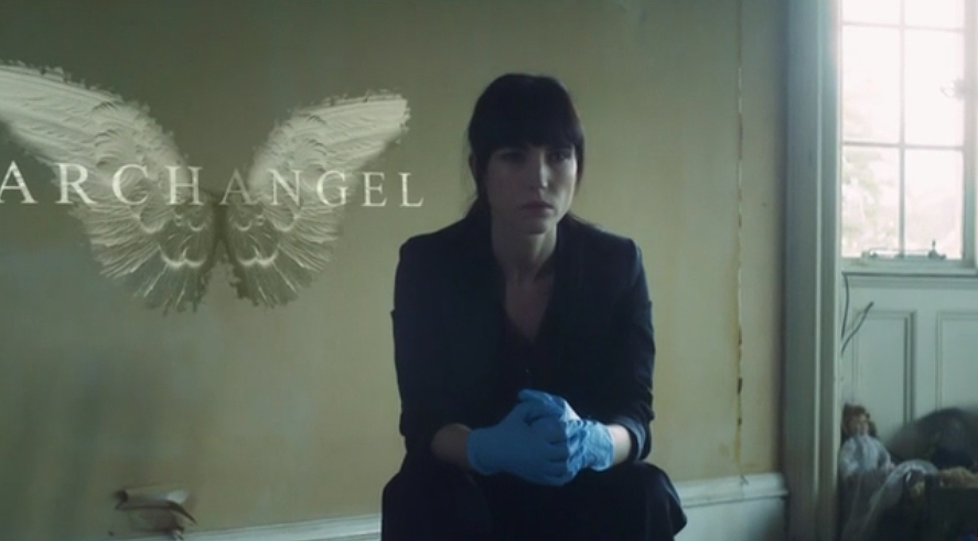 Actress Kojii Helnwein film still from Archangel