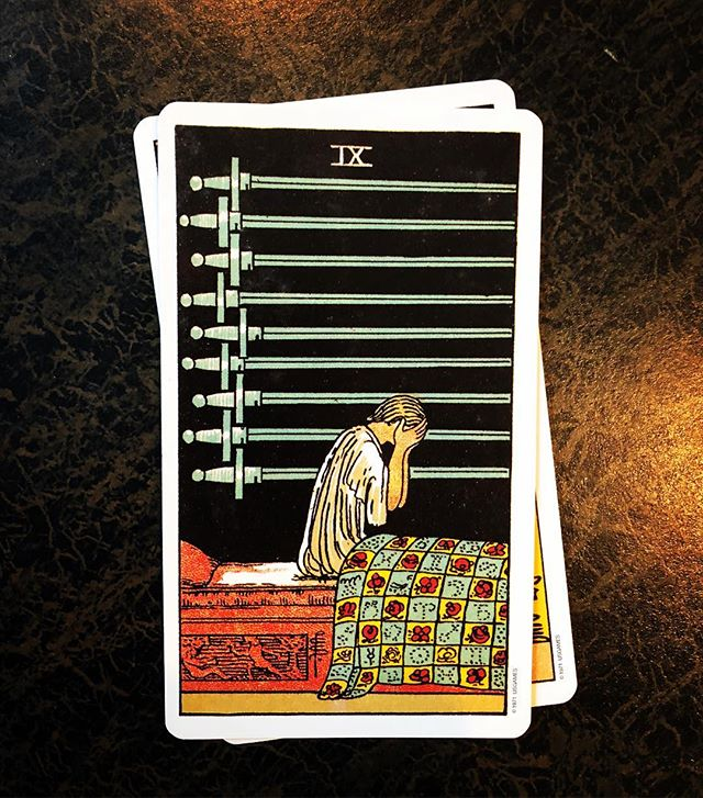 29. What is your least favorite tarot card? IX of Swords. I struggled to pick a least favorite. There are two sides to every coin, every story, every situation. The medicine offered is so real and so personal in each card. For me, I recognize the pain in the nine of swords. I recognize the posture. I feel for this person in a way that I might look past in other cards. I see her in her nightmares, in her anxiety, in her late night troubles. I hold my head that same way. I see her. I do. #tftwstarotchallenge #tarot #pdx #portlandtarot #portland #pdxtarot #pdxwitches #witchesofinstagram #witchesofportland #witchstyle #witchstagram #cityofroses #riderwaite #tarotcards