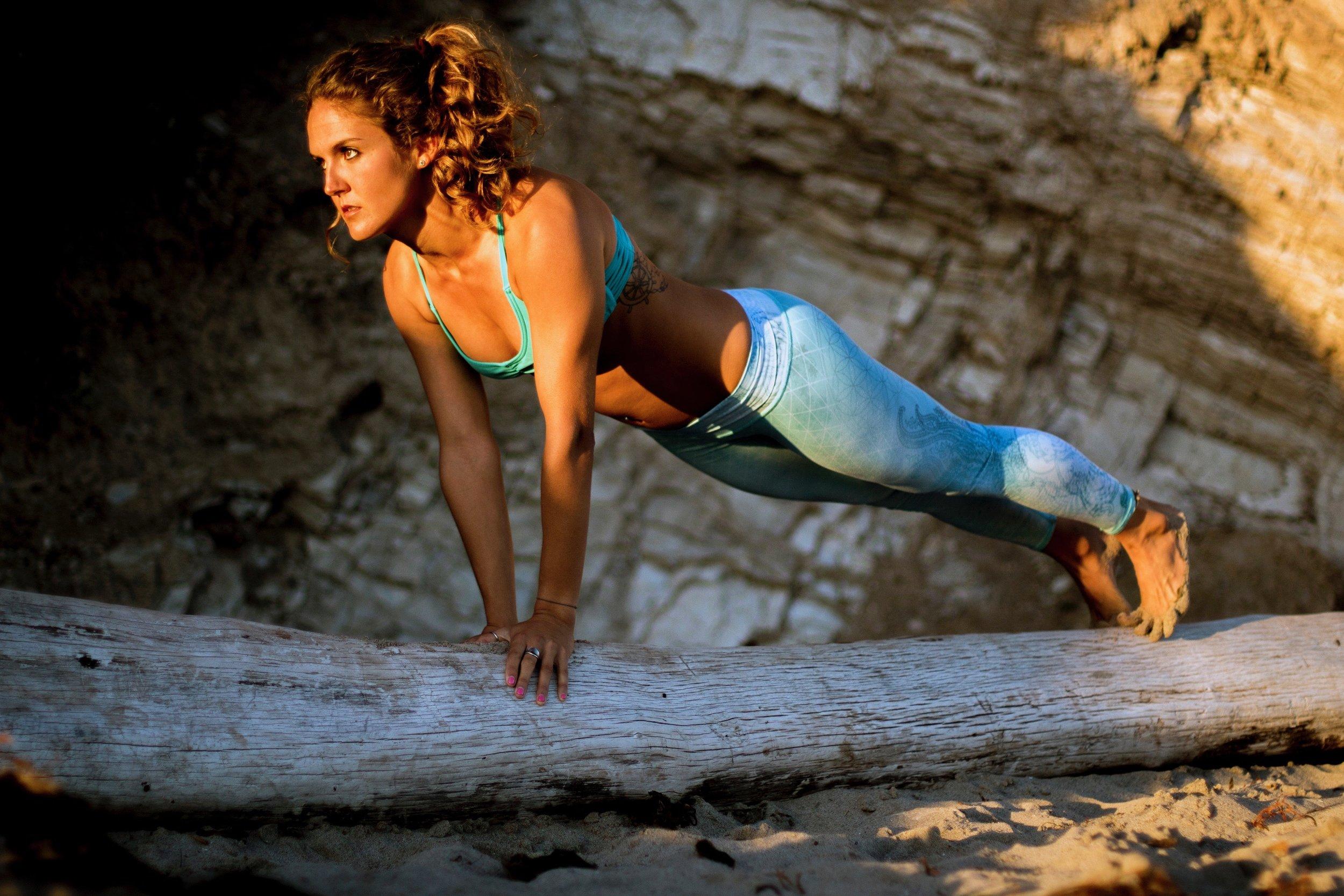 A balancing act of strength and femininity.
