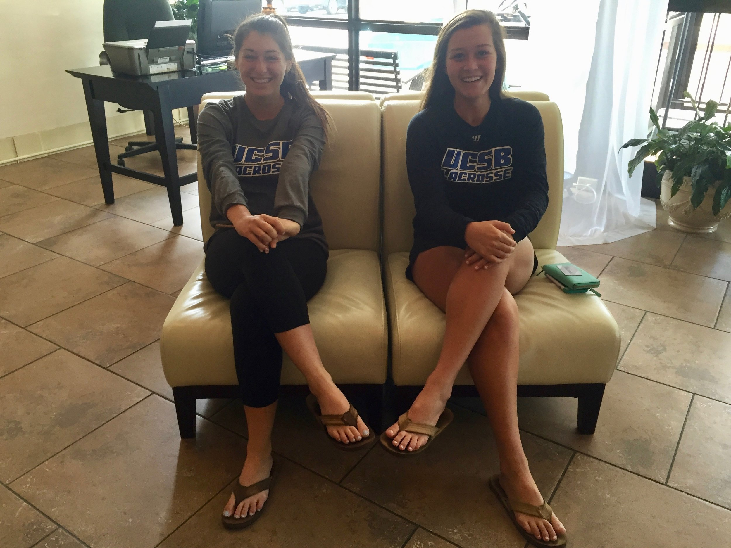 Julia and her bestie at Nationals.