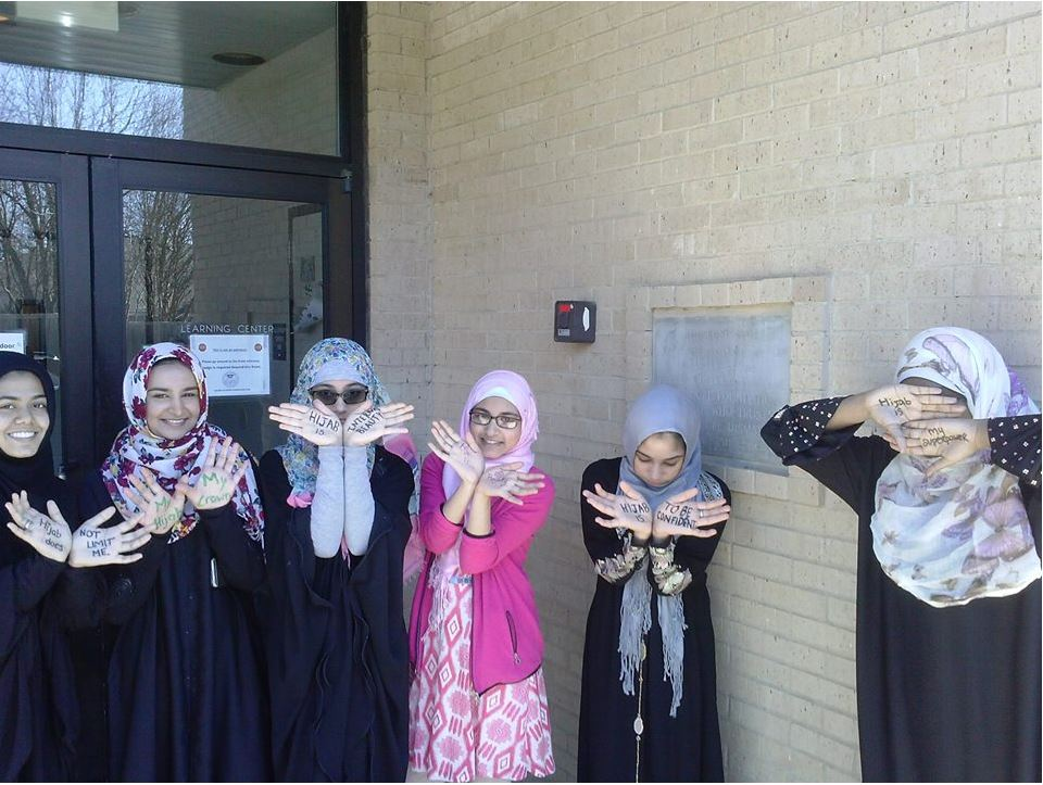 YM Muprhy behind the scenes of world hijab day video