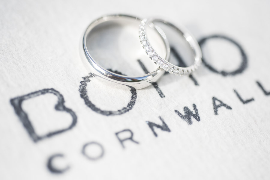 Copy of Boho Cornwall wedding rings