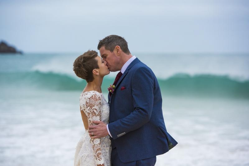 Beach wedding Cornwall
