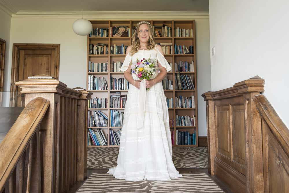 Bride waits at boho Cornwall.jpg