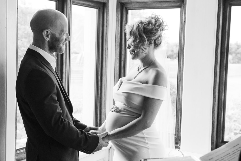 Pregnant bride boho cornwall