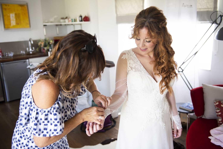 boho cornwall elopement bridal prep