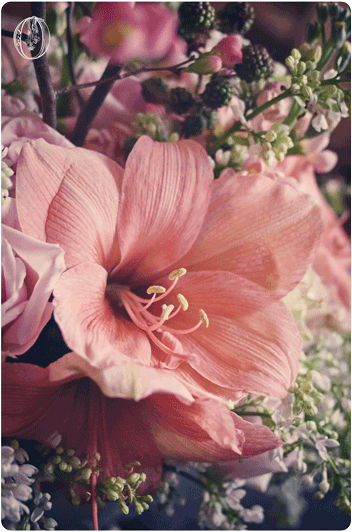 Holly-Hedge-Estate-Spring-Peach-Amaryllis-Lilac-Quince-Branch-Milk-Glass-Floral-Centerpiece-Oleander-New-Jersey-Bucks-County-Wedding-Florist