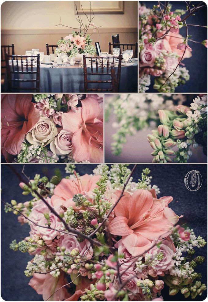 Holly-Hedge-Estate-Spring-Vintage-Milk-Glass-Peach-Amaryllis-White-Lilac-Quince-Branch-Centerpiece-Oleander-New-Jersey-Bucks-County-Wedding-Florist-Floral-Design