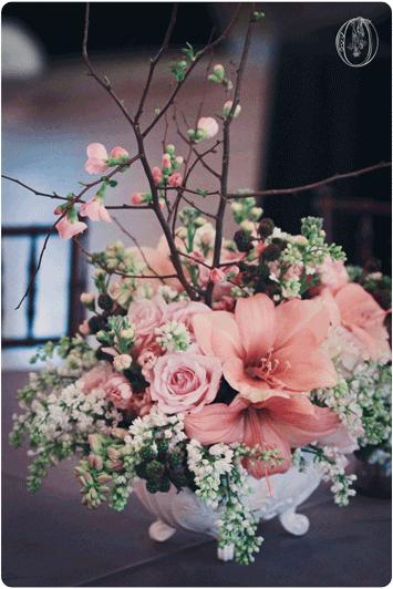 Holly-Hedge-Estate-Spring-Vintage-Peach-Coral-Amaryllis-Berry-Quince-Branch-Milk-Glass-Centerpiece-Oleander-New-Jersey-Bucks-County-Wedding-Florist-Floral-Design