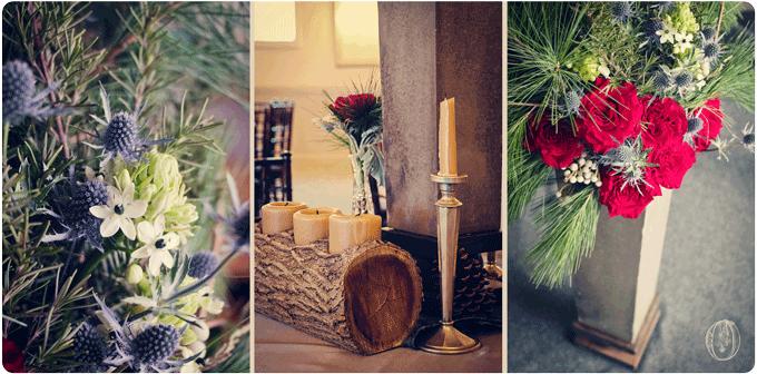 Holly-Hedge-Estate-Winter-Rustic-Woodland-Grey-Holiday-Evergreen-Garden-Rose-Wood-Concrete-Centerpiece-Oleander-New-Jersey-Bucks-County-Wedding-Florist-Floral-Design