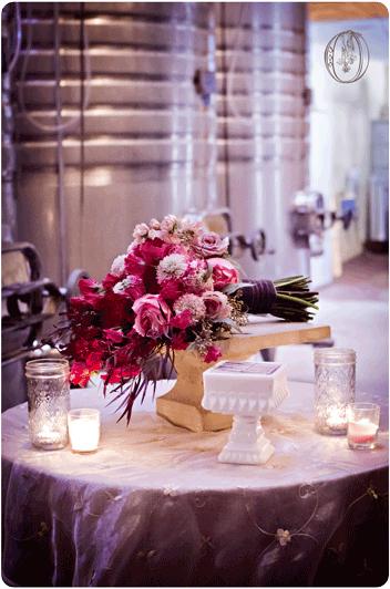 Unionville-Vineyards-New-Jersey-Rustic-Wedding-Event-Venue-Pink-Red-Ombre-Sweet-Pea-Scabiosa-Garden-Rose-Bridal-Bouquet-Oleander-Bucks-County-New-Jersey-Wedding-Florist