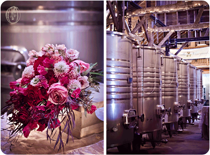 Unionville-Vineyards-Rustic-Barn-New-Jersey-Wedding-Event-Venue-Wine-Barrels-Pink-Red-Garden-Rose-Sweet-Pea-Japanese-Scabiosa-Ombre-Bouquet-Oleander-Bucks-County-New-Jersey-Wedding-Florist