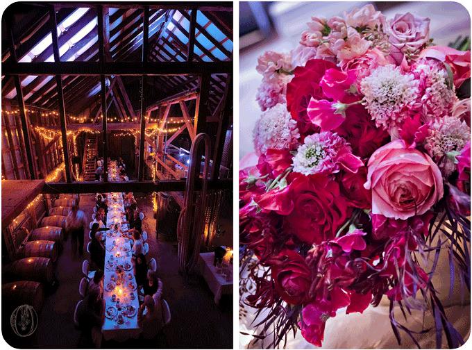 Unionville-Vineyards-Wedding-Event-Venue-Farm-Table-Pink-Red-Garden-Rose-Sweet-Pea-Japanese-Scabiosa-Ombre-Bouquet-Oleander-Bucks-County-New-Jersey-Wedding-Florist