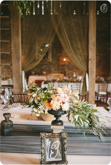 Edison-Bulb-Suspended-Branch-Floral-Chandelier-Blush-Peach-Black-Organic-Centerpiece-Vintage-Rustic-Barn-Wedding-Organic-Farm-Wedding-Anthropologie-Wedding-Rodale-Institute-PA-Lauren-Fair-Oleander-Bucks-County-PA-NJ-Wedding-Florist-Floral-Event-Design