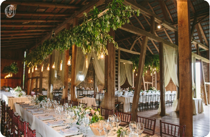 Hanging-Edison-Light-Suspended-Olive-Branch-Floral-Chandelier-Antique-Door-Ceremony-Vintage-Rustic-Barn-Wedding-Organic-Farm-Wedding-Anthropologie-Wedding-Rodale-Institute-PA-Lauren-Fair-Oleander-Bucks-County-PA-NJ-Wedding-Florist-Floral-Design-Events