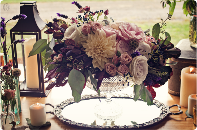 Muted-Vintage-Late-Summer-Fall-Organic-Vineyard-Dahlia-Garden-Rose-Lavender-Purple-Grey-Bohemian-Centerpiece-Unionville-Vineyards-NJ-Oleander-New-Jersey-Bucks-County-Wedding-Florist-Floral-Event-Design