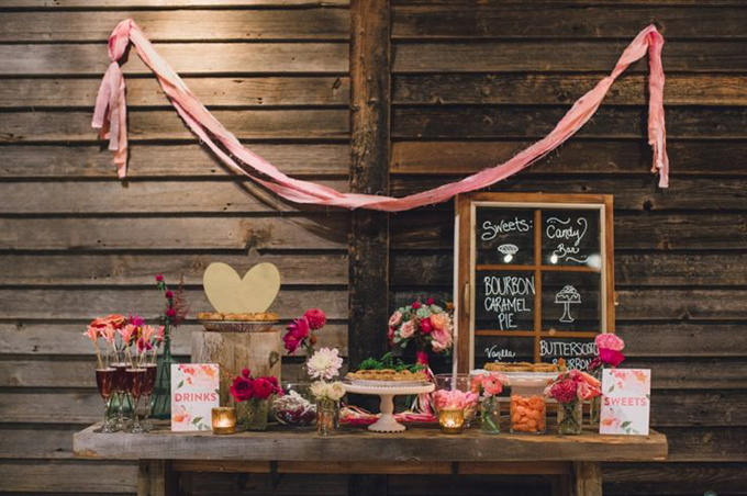 Bohemian-Ombre-Summer-Gold-Pink-Coral-Rustic-Barn-Greenhouse-Wedding-BHLDN-Anthropologie-Dress-Rustic-Pie-Sweets-Table-Terrain-Styers-PA-Lauren-Fair-Oleander-Bucks-County-PA-Philadelphia-Wedding-Florist-Floral-Event-Design