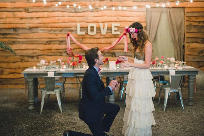 Bohemian-Ombre-Summer-Gold-Pink-Coral-Rustic-Barn-Wedding-Vintage-Glass-Bottle-Centerpiece-BHLDN-Anthropologie-Dress-Surprise-Engagement-Proposal-Terrain-Styers-PA-Lauren-Fair-Oleander-Bucks-County-PA-Philadelphia-Wedding-Florist-Floral-Event-Design