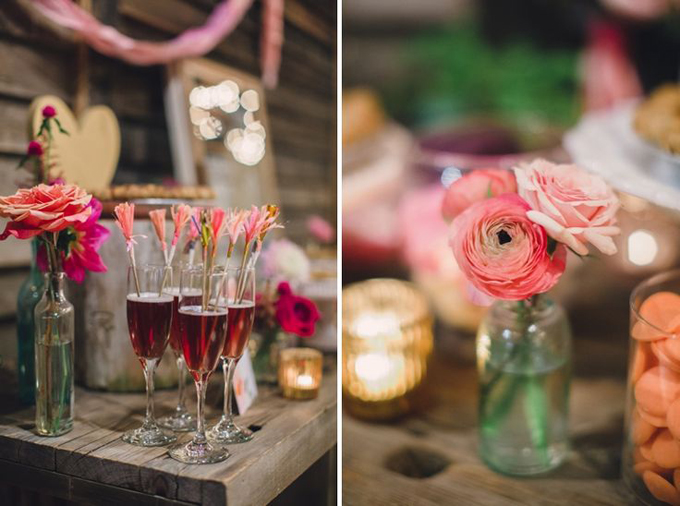 Bohemian-Ombre-Summer-Gold-Pink-Coral-Rustic-Barn-Wedding-Vintage-Glass-Bottle-Centerpiece-BHLDN-Anthropologie-Dress-Sweets-Dessert-Table-Terrain-Styers-PA-Lauren-Fair-Oleander-Bucks-County-PA-Philadelphia-Wedding-Florist-Floral-Event-Design