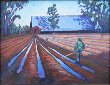 "Farming in all weathers 18""x24"" oil ............................$1100"