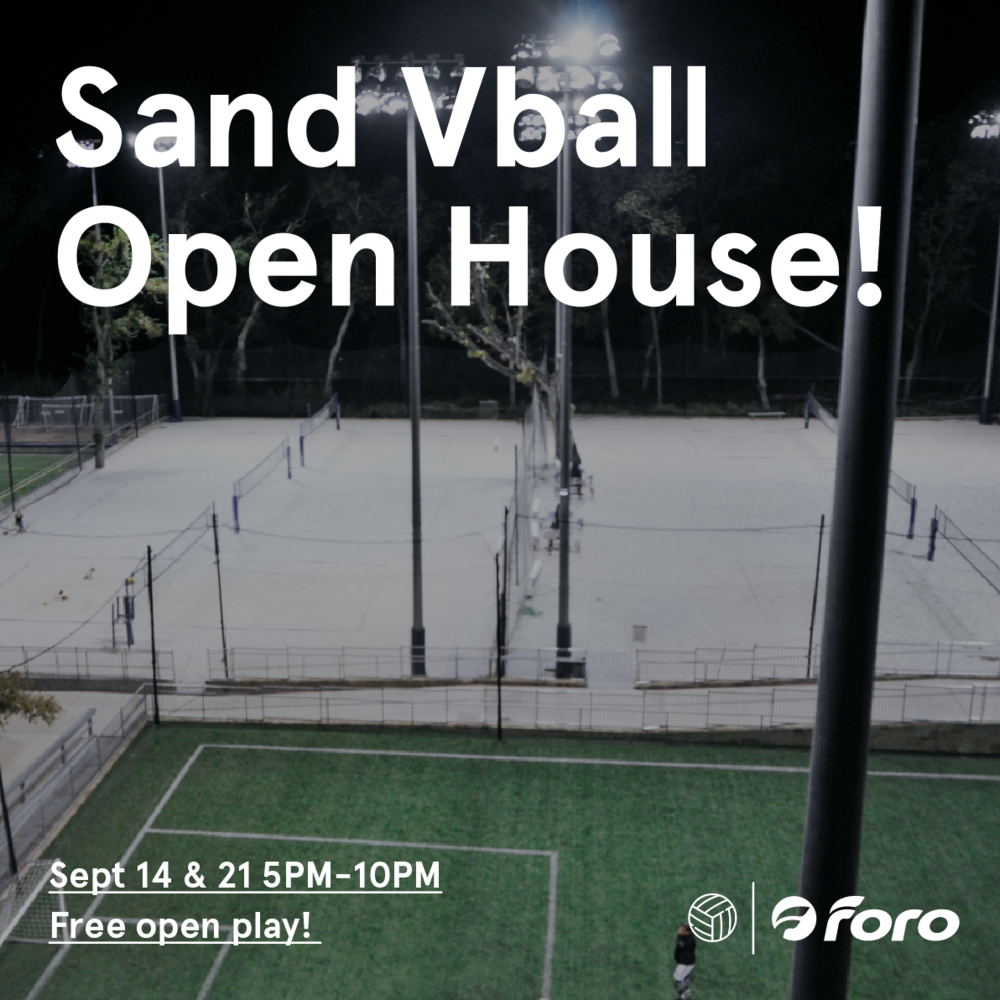 Sand Vball Open House - Free open play this Saturday and next!