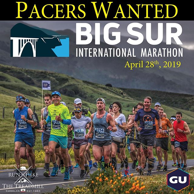 "Have you ever imagined what it would be like to be a pacer for one of the most beautiful marathons in the world ? Well this could be your chance !! @thetreadmill_ca & @guenergylabs are once again partnering to bring you the 2019 Big Sur International Pace Team. If you're interested, or to learn more about this once in a lifetime opportunity, please send an email to owner@thetreadmill.com and hopefully we'll see you running on the ""Ragged Edge of the Western World"" this April !! #guforit #thetreadmill #bigsurmarathon"