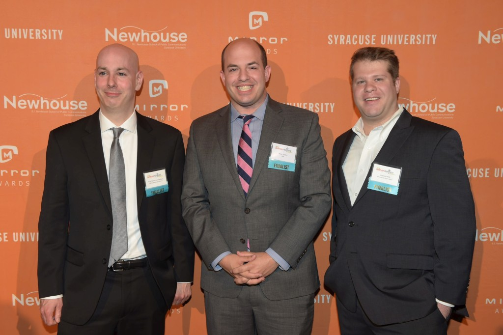 Guy Patrick Cunningham (left), Brian Stelter (center) & Matthew Billy (right)