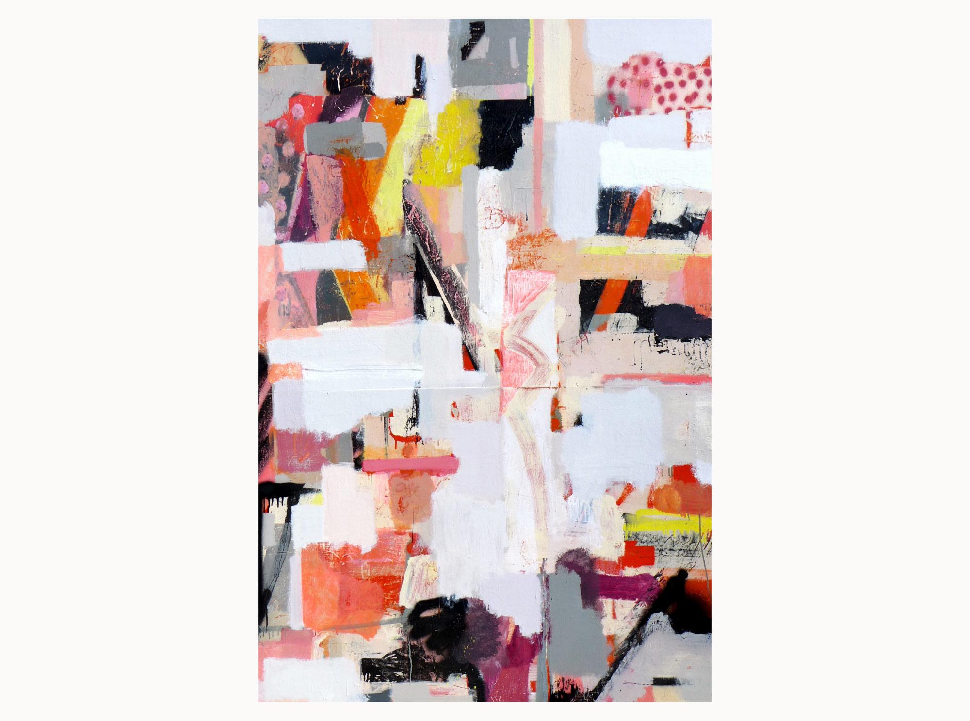 Control,  2019, acrylic, aerosol, plywood, 120 x 180 cm