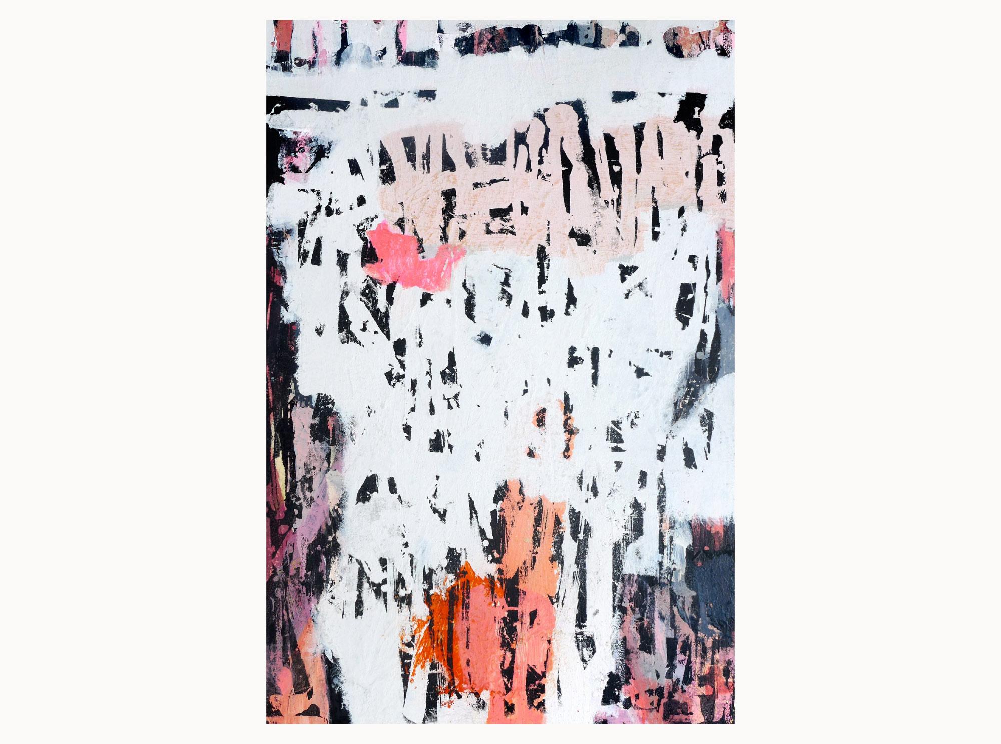 Faded,  2019, acrylic, plywood, 40 x 60 cm