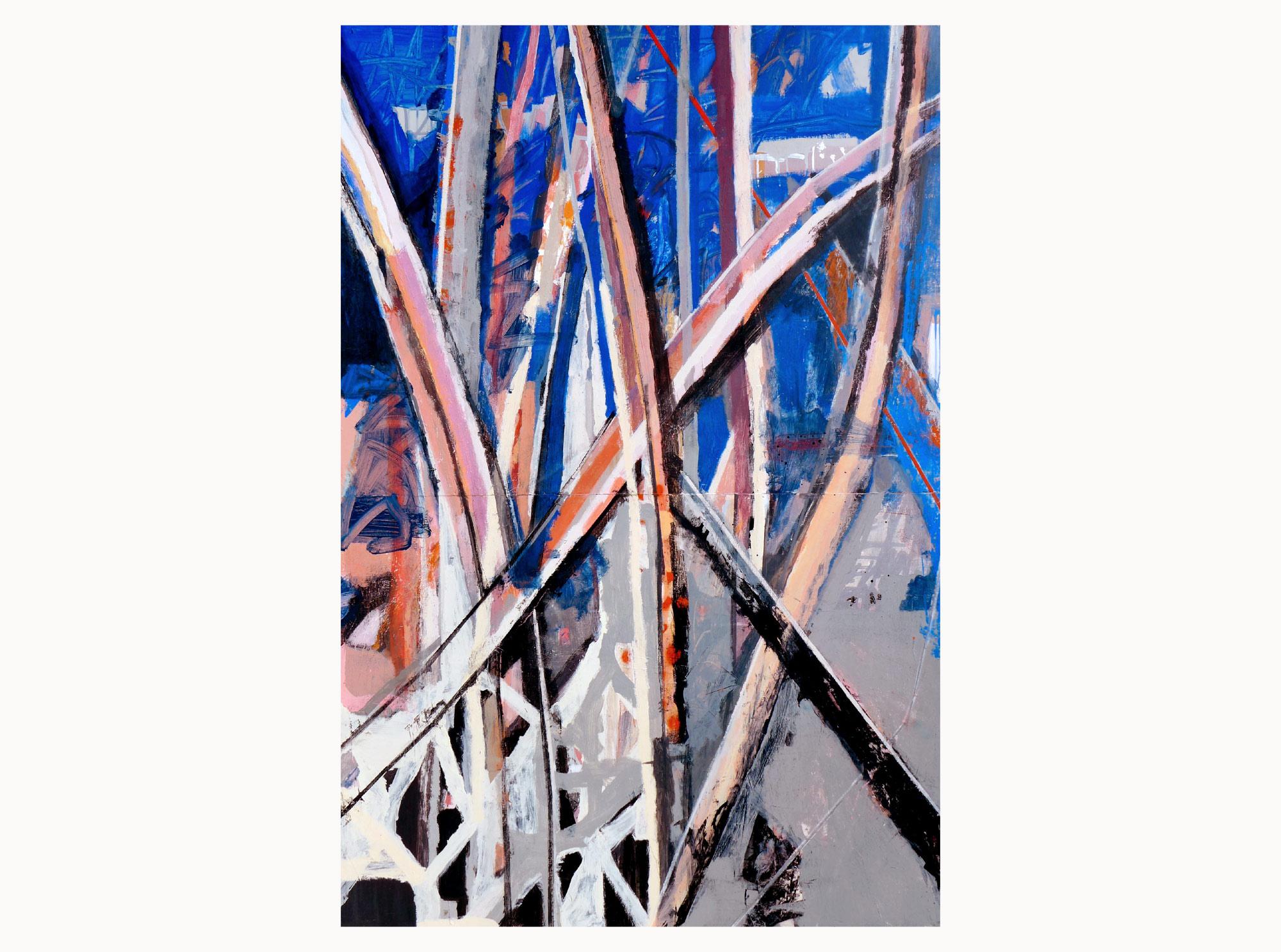 Waving a flag,  2019, acrylic, aerosol, plywood, 120 x 180 cm