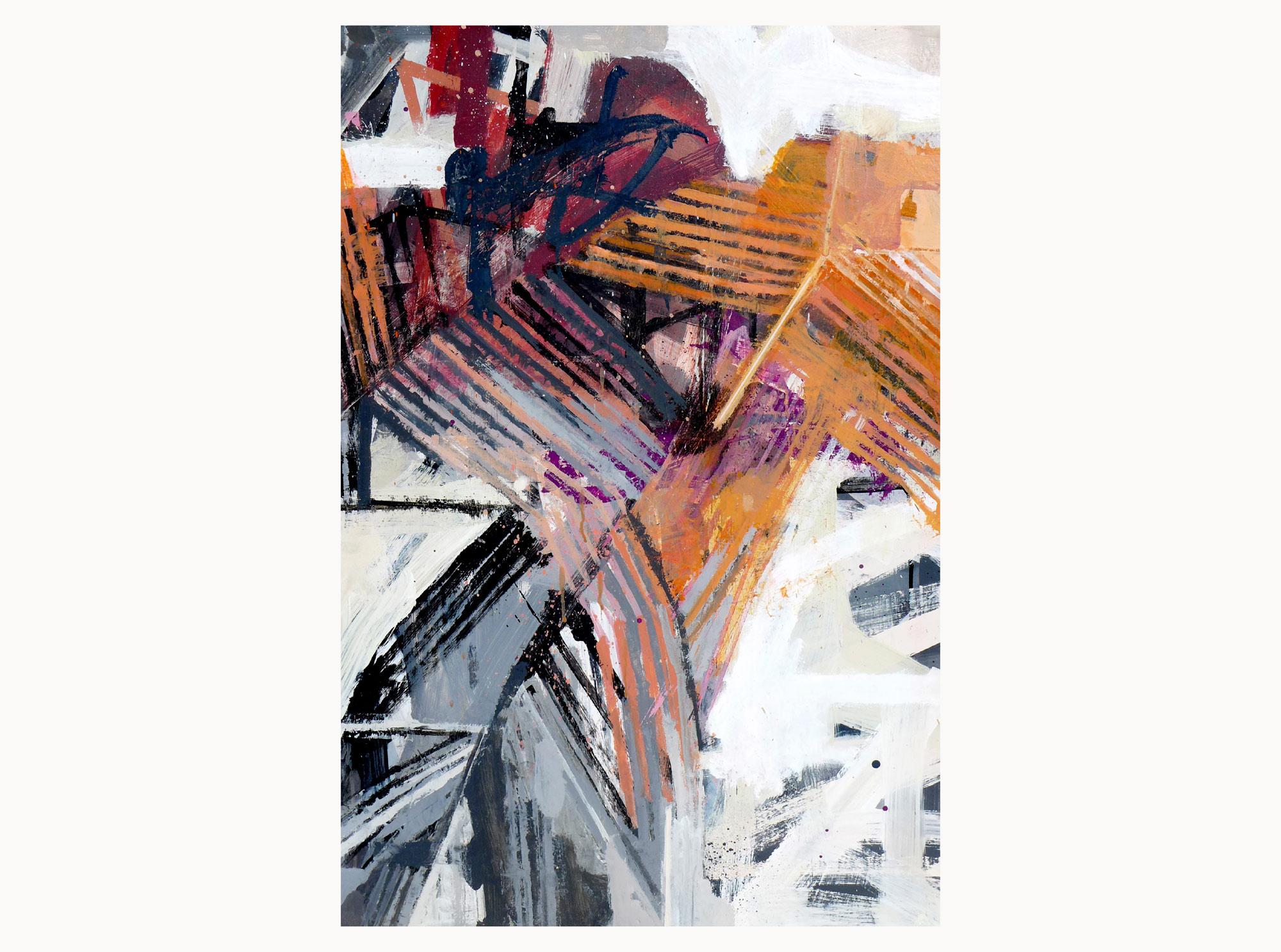 Sumer shade , 2018, acrylic, aerosol, plywood, 60 x 90 cm