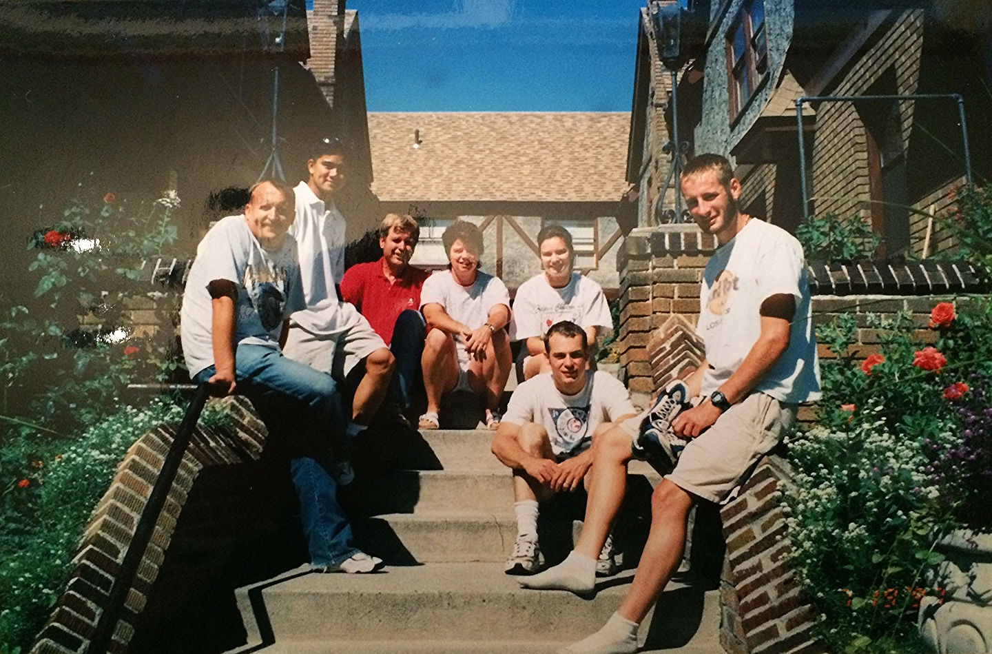 outside our first apartment in Wenatchee with the friends who helped us move out