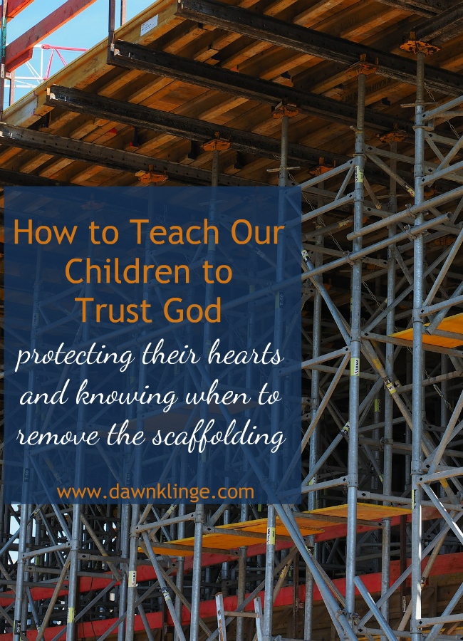Teaching our children to trust in God