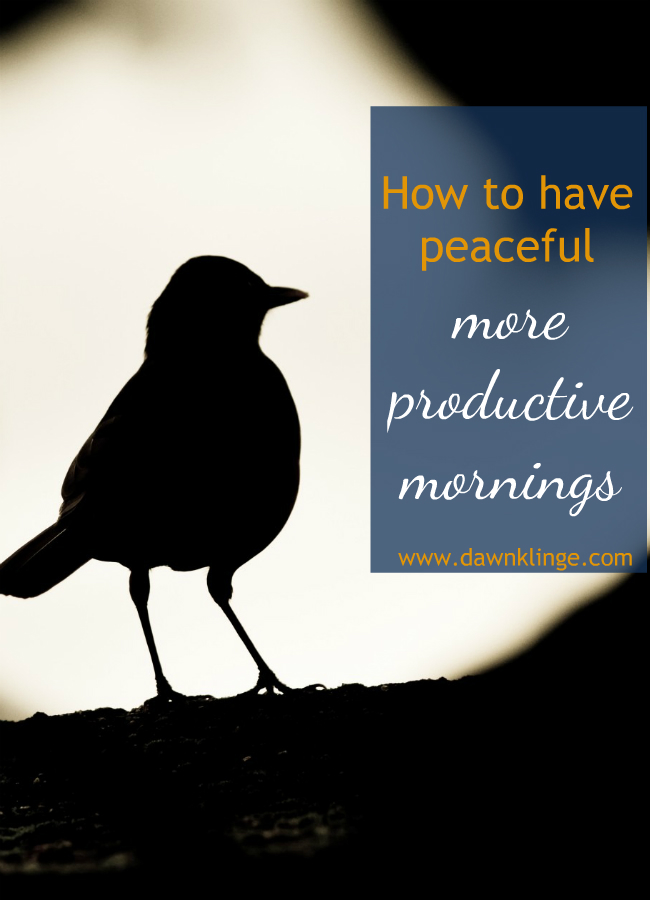 how to have peaceful. more productive mornings