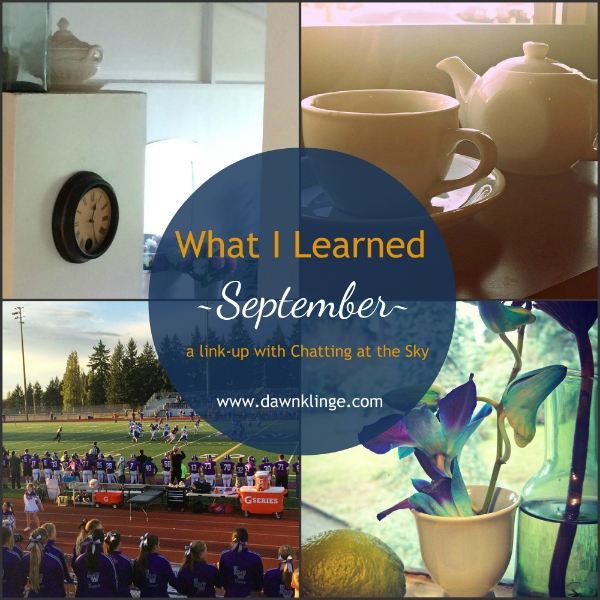 what I learned, September 2015, a link up