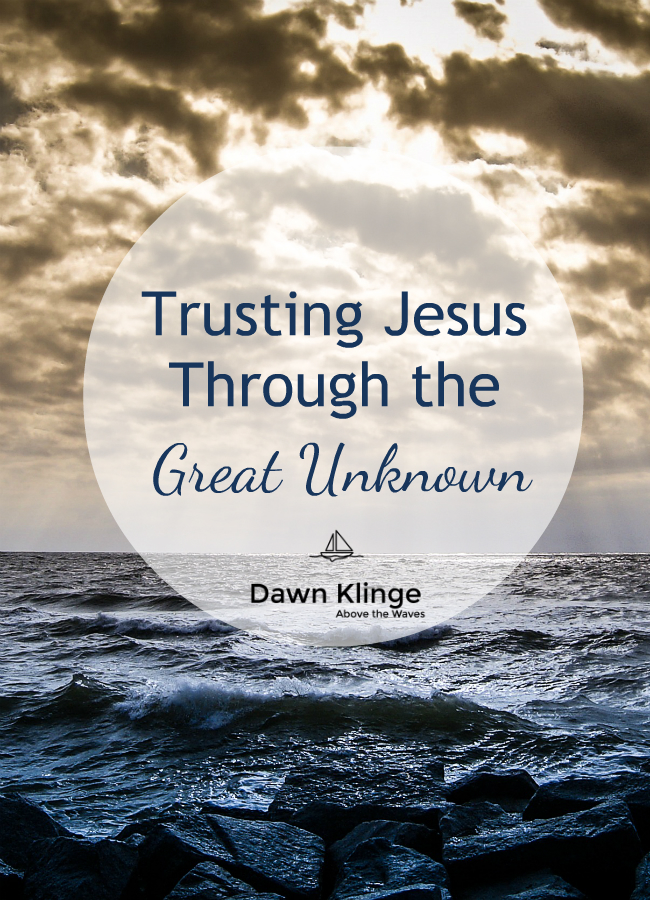 Unknowns often make us uncomfortable. Yet they're a big part of life.  Learning to accept that we can't control and plan everything that happens to us or to those we love, is necessary if we want to experience the peace that God has for us. We can rest in the promises of God's Word, trusting it when it says,