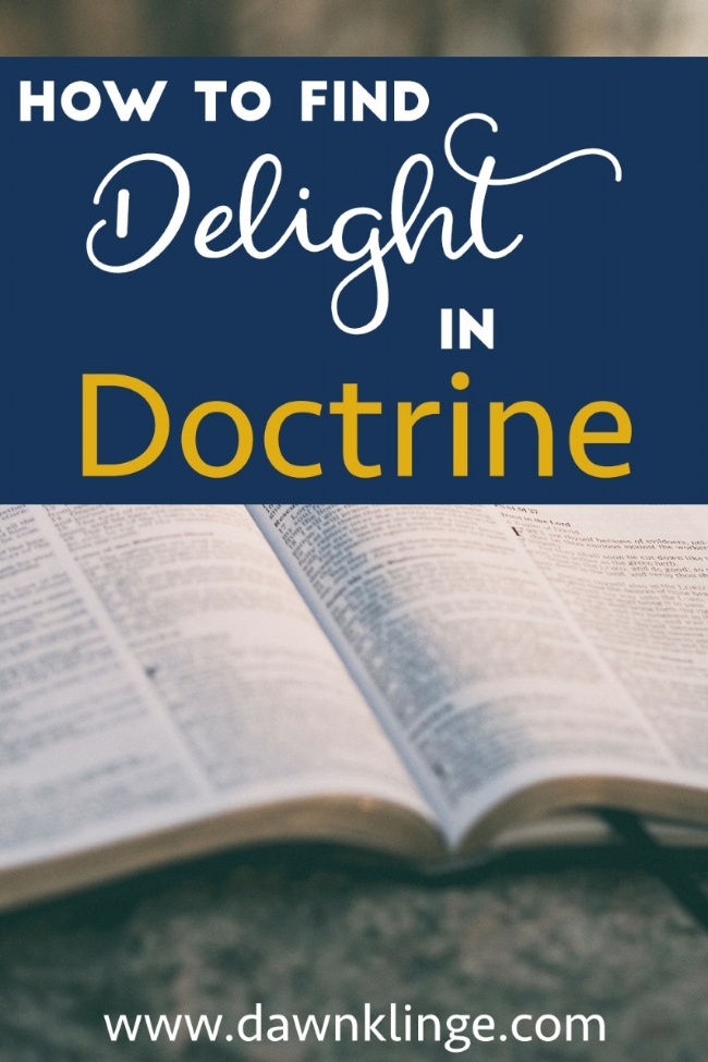 How to Find Delight in Doctrine: series intro