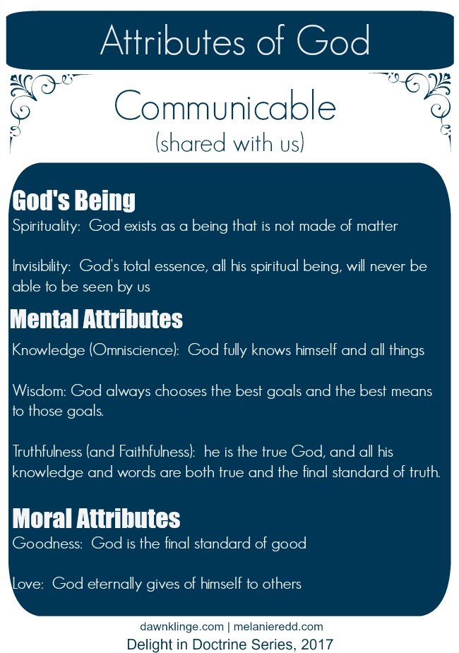 What is God Like?  A Look at His Attributes I the attributes of God I Christian theology I Christian doctrine I who is God I Above the Waves II #theology #christiandoctrine