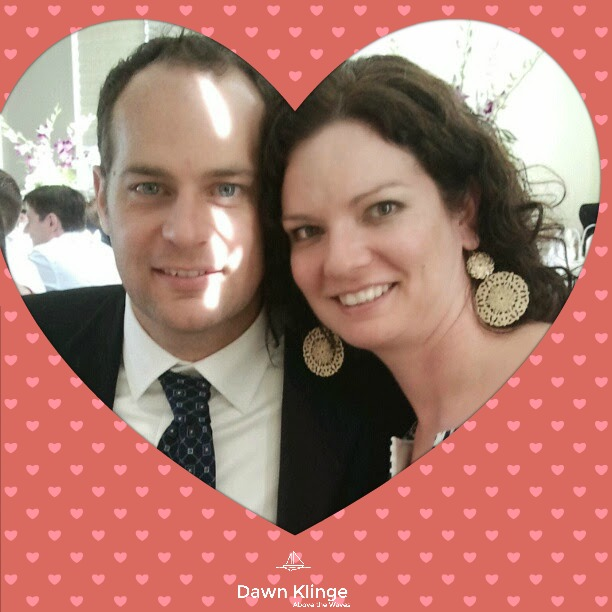 My sweetheart and me at a friend's wedding, a happy memory.