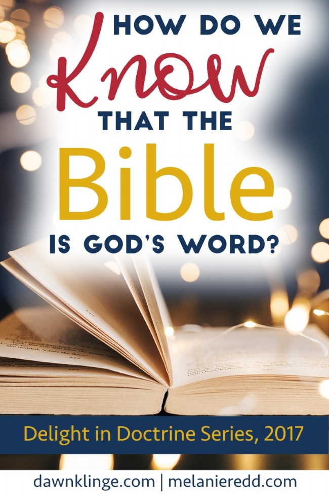 how we know Bible God's Word