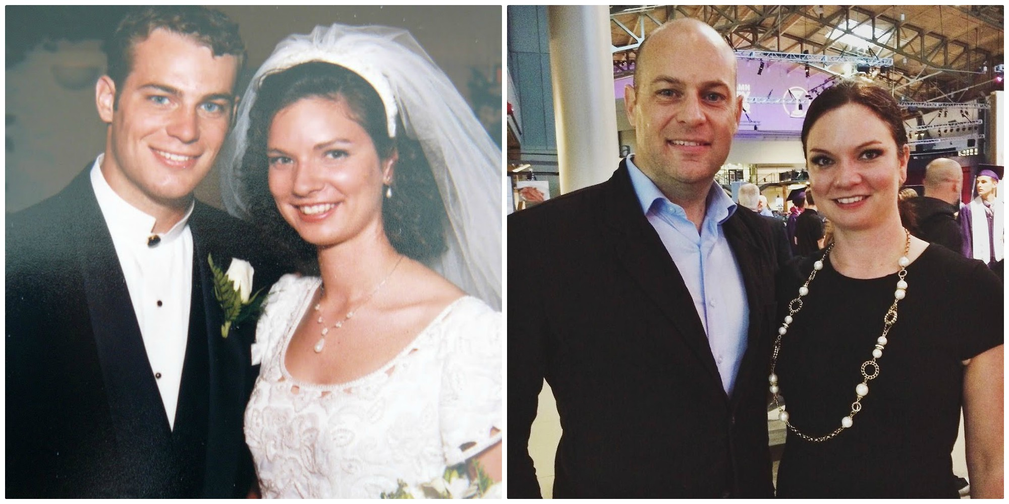 21 years ago and today. I thank God each day for the blessing of this marriage. It's a wonderful thing to be married to your best friend.