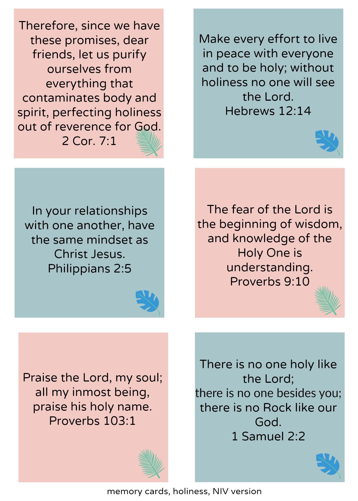 memory cards holiness I 8 habits of holiness to cultivate I Christian holiness I Christian habits I Devotion I prayer I women's retreat I Christian Women's retreat I Above the Waves II #holyhabits #holiness