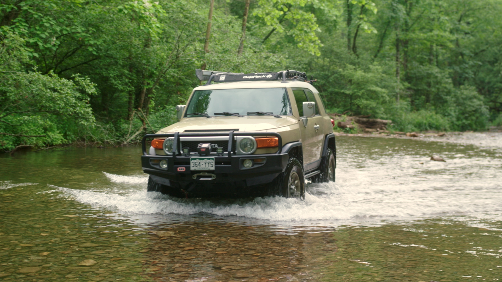 Ronnie's FJ Cruiser. Our scouting vehicle for pre-production and featured in the video.