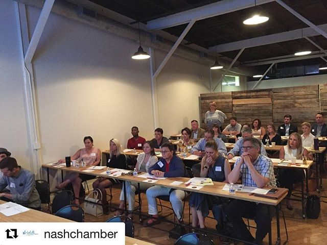 @NashChamber kicked off their Business Studio Leadership Academy this morning. There are four more classes and Bizaroo this month.  Go to nashvillechamber.com/bizstudio to make sure you don't miss out.