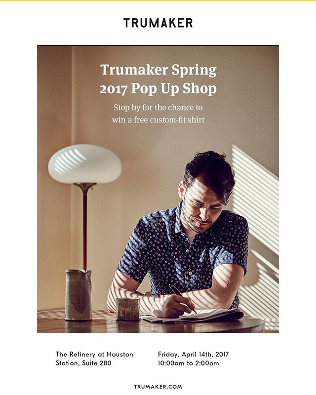 Come out this Friday to Refinery, from 10:00am to 2:00pm, to see the new Spring and Summer 2017 fabrics from our member @Trumaker, and enter to win a free custom made shirt.  We will have complimentary local beers to start off the weekend right.