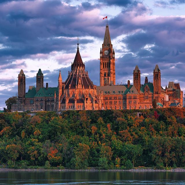 "Parliament Hill in Ottawa, the capital of Canada. . Did you know that it was Queen Victoria who chose Ottawa as the capital of what was then the Province of Canada?  And when the construction of Parliament Hill began in 1859, it was ""the largest project undertaken in North America to that date"". (thanks @wikipedia)"